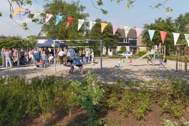 Bewoners in Aa-landen verzorgen het groen en de speeltuin in hun buurt
