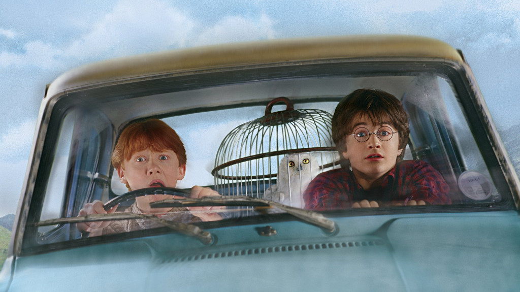beeld uit 'Harry Potter and the Chamber of Secrets'