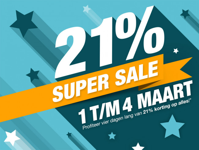 Zunnebeld viert 21 procent Super Sale Dagen
