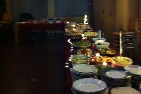 Het kerstbuffet van de bridgeclub Dronten.