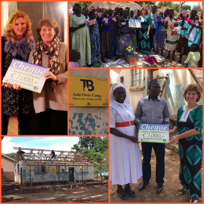 Rotary overhandigt cheque aan Otuke Harvest Foundation