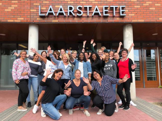 De eerste groep zij-instromers van het Coloriet College.
