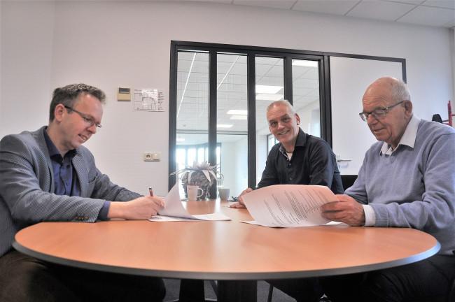 Vlnr: Johan van der Kolk, Wim Mossel en Teun Bouwhuis.