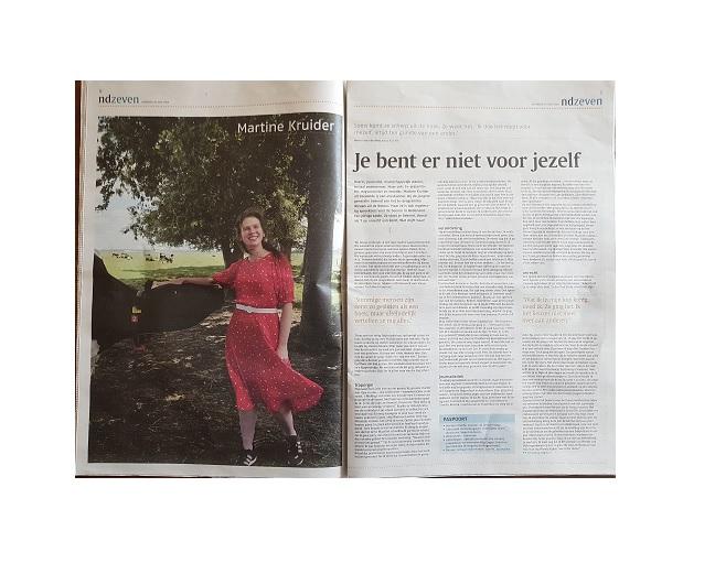 Openhartig interview met 'sociaal ondernemer, boerin en journalist' Martine Kruider