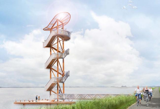 De Belvédèretoren in het Veluwemeer. Kosten: 800.000 euro.