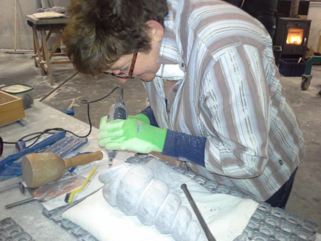 Ton Weerheijm geeft cursussen beeldhouwen voor beginners en gevorderden