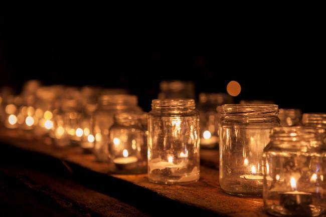 De wereldlichtjesdag van vorig jaar in Dronten.