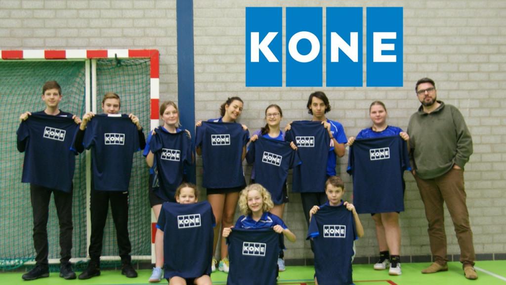 KONE steekt jeugdteams Swift '64 badminton in het nieuw