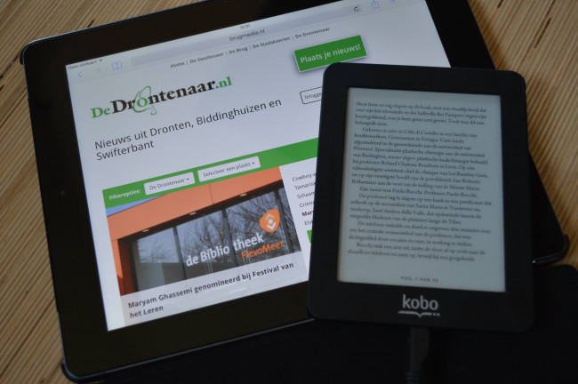 E-book of tablet