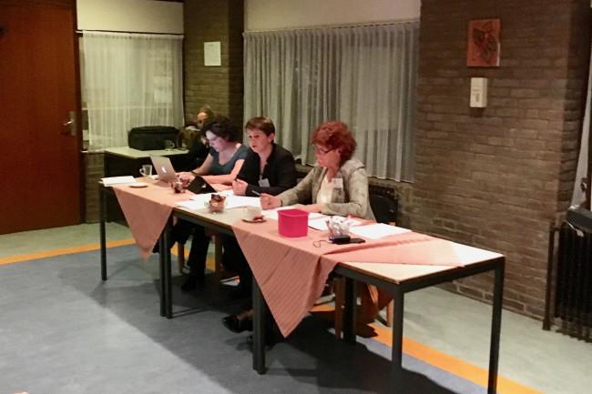 Denise van derBoom, Sandra Nobel en Trudi Scheepers.