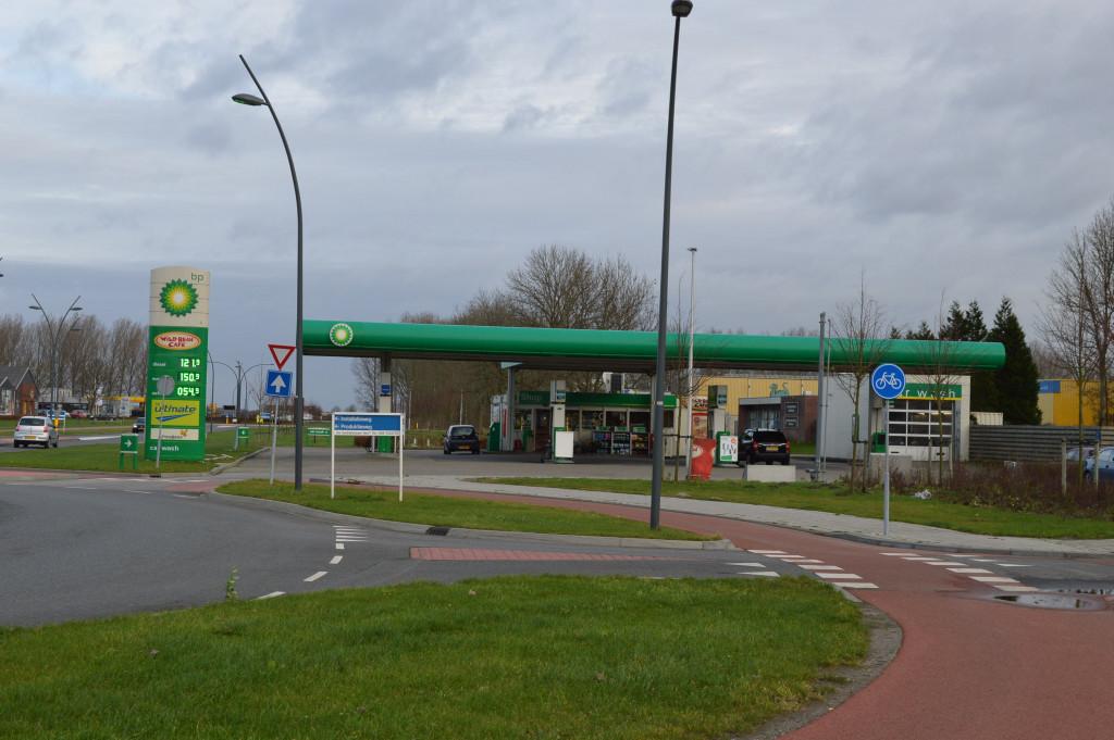 Het BP-station.