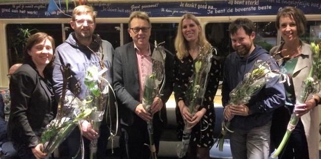 Ingrid Paalman, Roelof Siepel, Jaap Oosterveld, Marloes Hotting, Michel Degenhardt, Marianne Witteveen (v.l.n.r.).