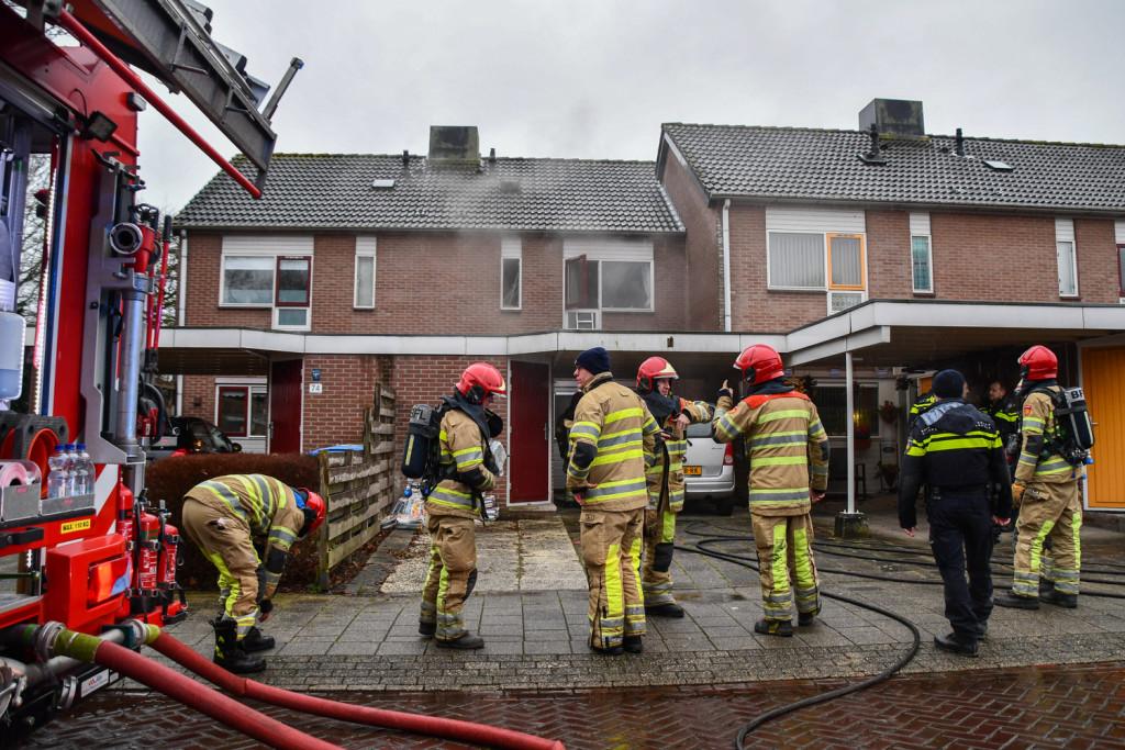 Twee gewonden bij brand in woning aan De Fazant in Dronten