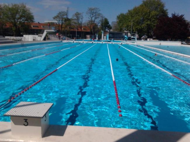 Zwemloop in openluchtbad Zwolle