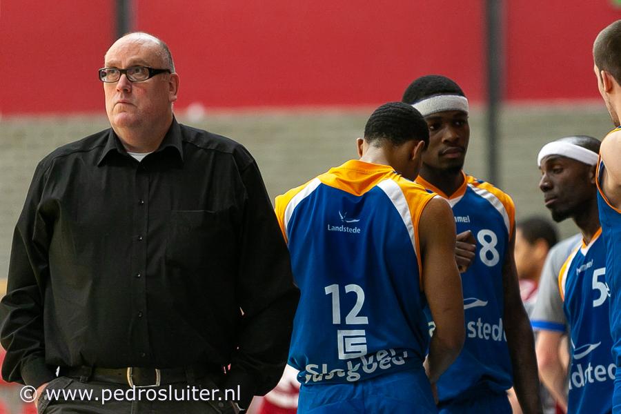 Adriaan van Bergen als coach van Landstede in 2010