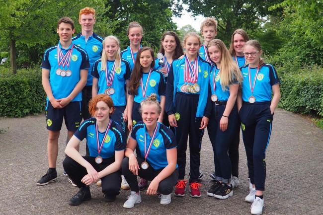 De delegatie uit Dronten bij de Gelderse kampioenschappen.