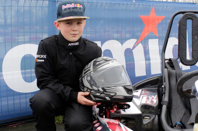 Karttalent Fabian Feliciano Rebelo (10) uit Dronten naar landelijke finale