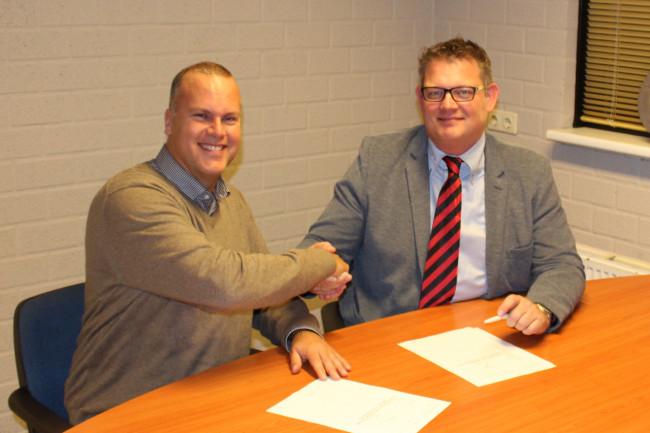 Sponsor John Halsema en Reaal-voorzitter Jan Pieter Stoop.