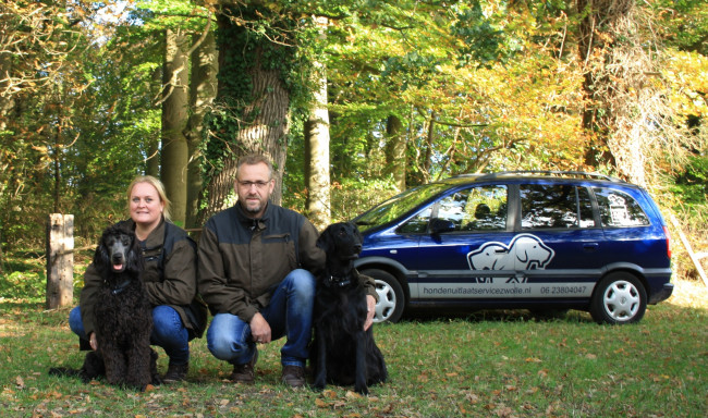 Hondenuitlaatservice Sanne's Black Label werkt met uniek GPS halsband systeem