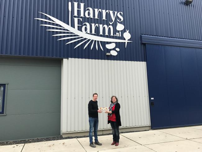 Harry Schreuder van Harrysfarm (links) en Mieneke Manschot van StudioTof.