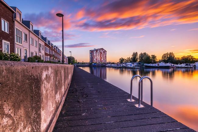 In Dronten is vooral het havengebied een favoriet.