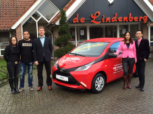 Wereldrestaurant De Lindenberg geeft Toyota Aygo cadeau