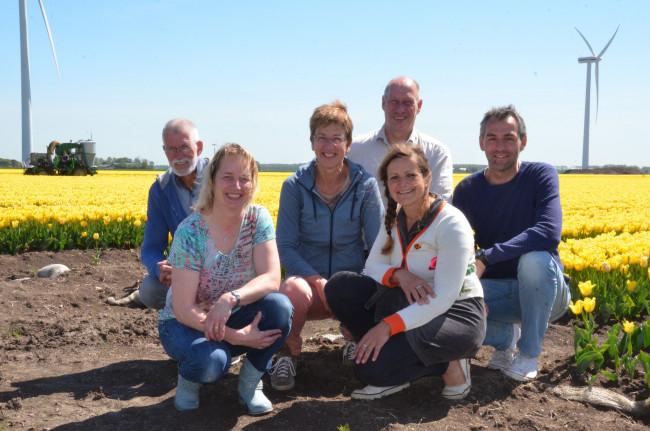 Het bestuur met v.l.n.r. Bokke Haanstra, Mariska van Diepenbeek, Coby Dekker-van den Ber, Herman Vermeer, Hanneke Monsma en Martijn Horich.