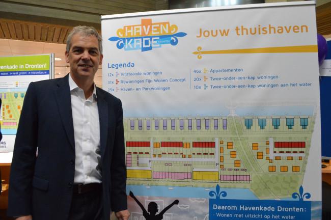 Johan Zandbergen (VSO) bij het plan voor de Havenkade.