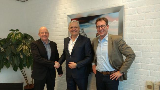 Theo Meulman van Lankhorst, Meine Breemhaar van Mac3Park en Tjibbe-Jan Boringa van Hoekstra Bedrijfsmakelaar (v.l.n.r.).