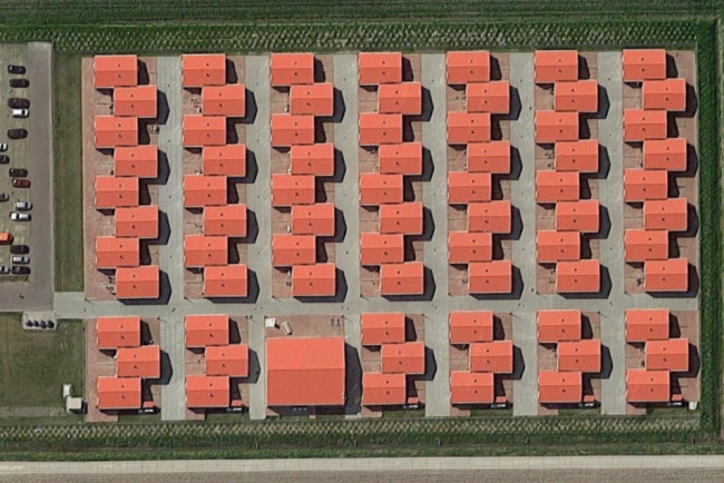 De huisvesting voor arbeidsmigranten aan de Visvijverweg.