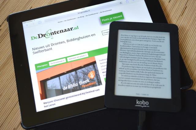 Tablet of e-reader.