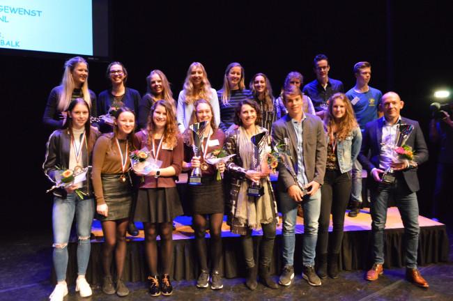 De winnaars van de sportverkiezingen gemeente Dronten.