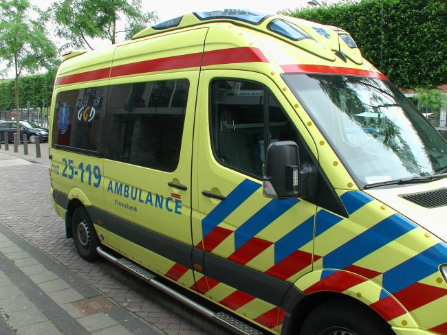 Ambulance GGD Flevoland.