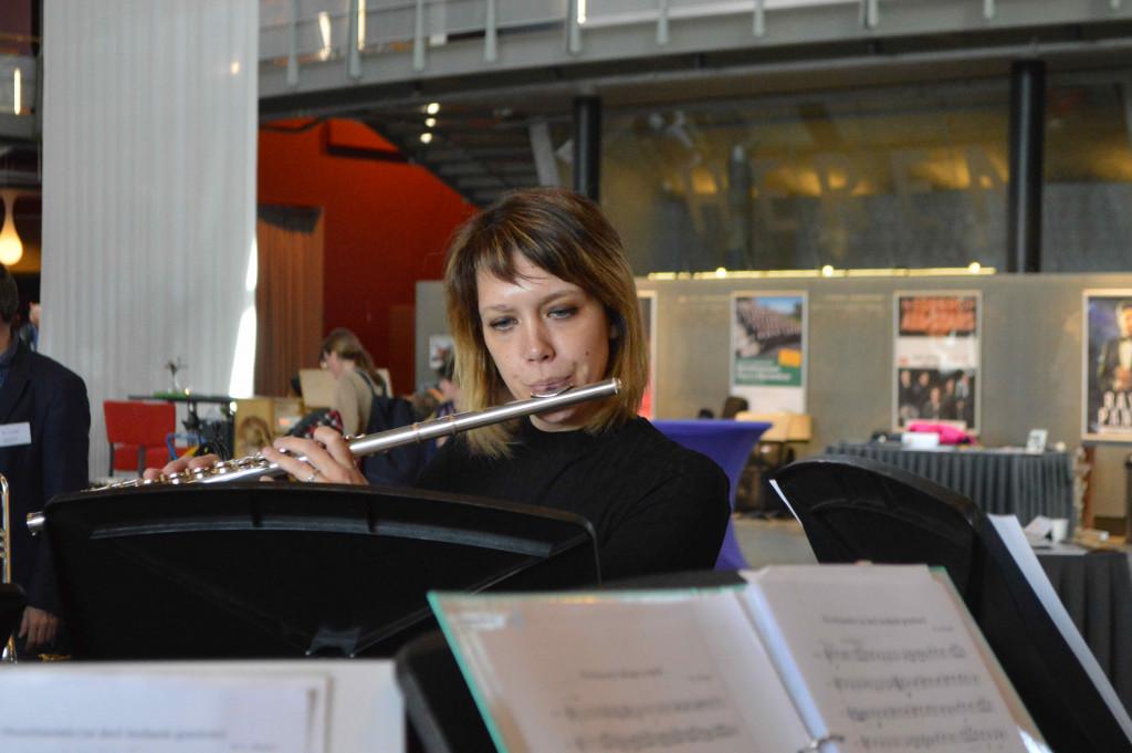 Muziek bij De Meerpaal Academie.