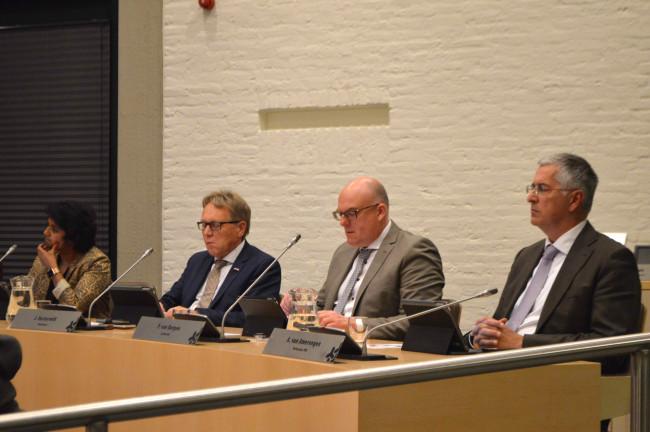 De vier wethouders van de gemeente Dronten.
