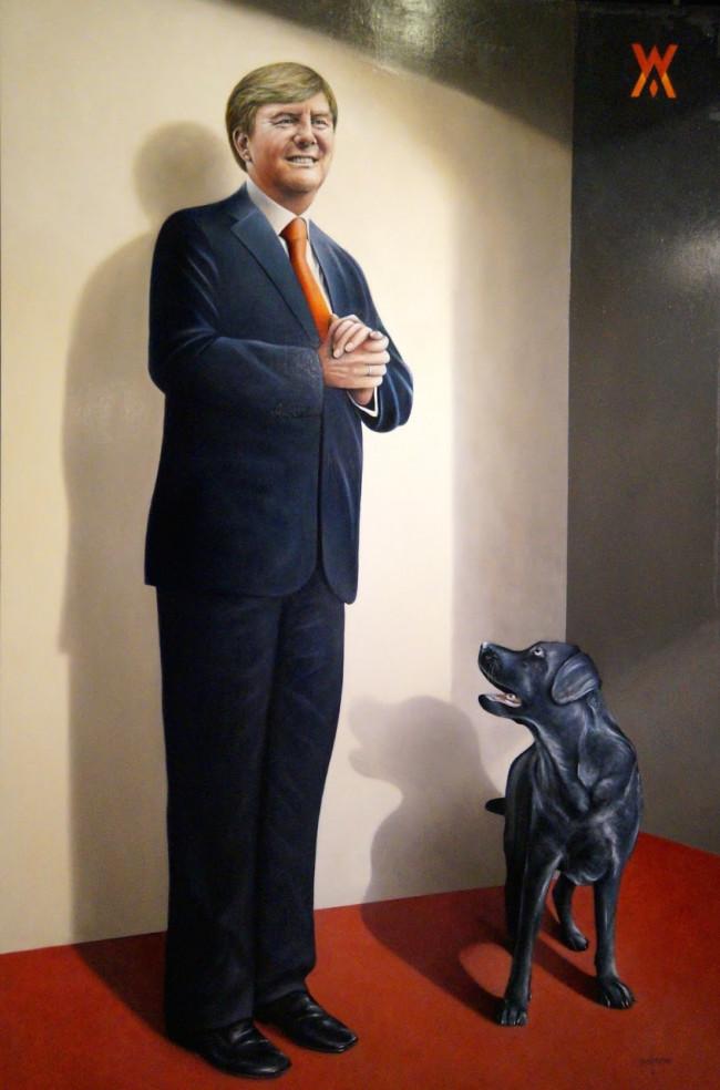 IJsselmuider kunstenaar Jan Kootstra exposeert in het gemeentehuis op Urk
