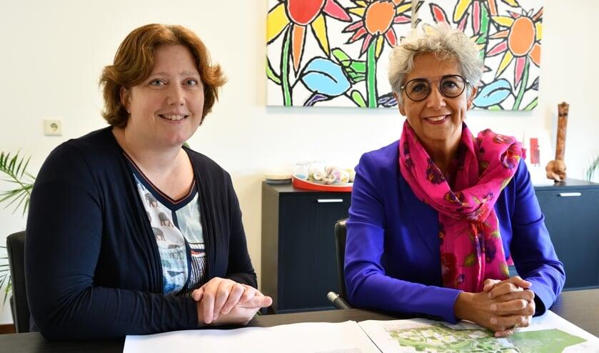 Irene Herben (l) strategisch adviseur vastgoed en Jody Cath (r) bestuurder SWZ   | Fotonummer: ea3a32