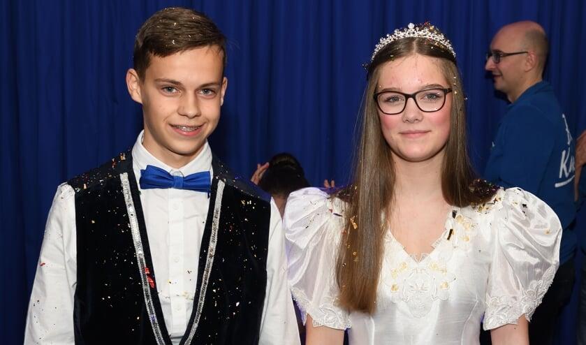 Stan en Sanne nieuwe Jeugd prins en prinses bij De Dommelsoppers   | Fotonummer: b7a0de