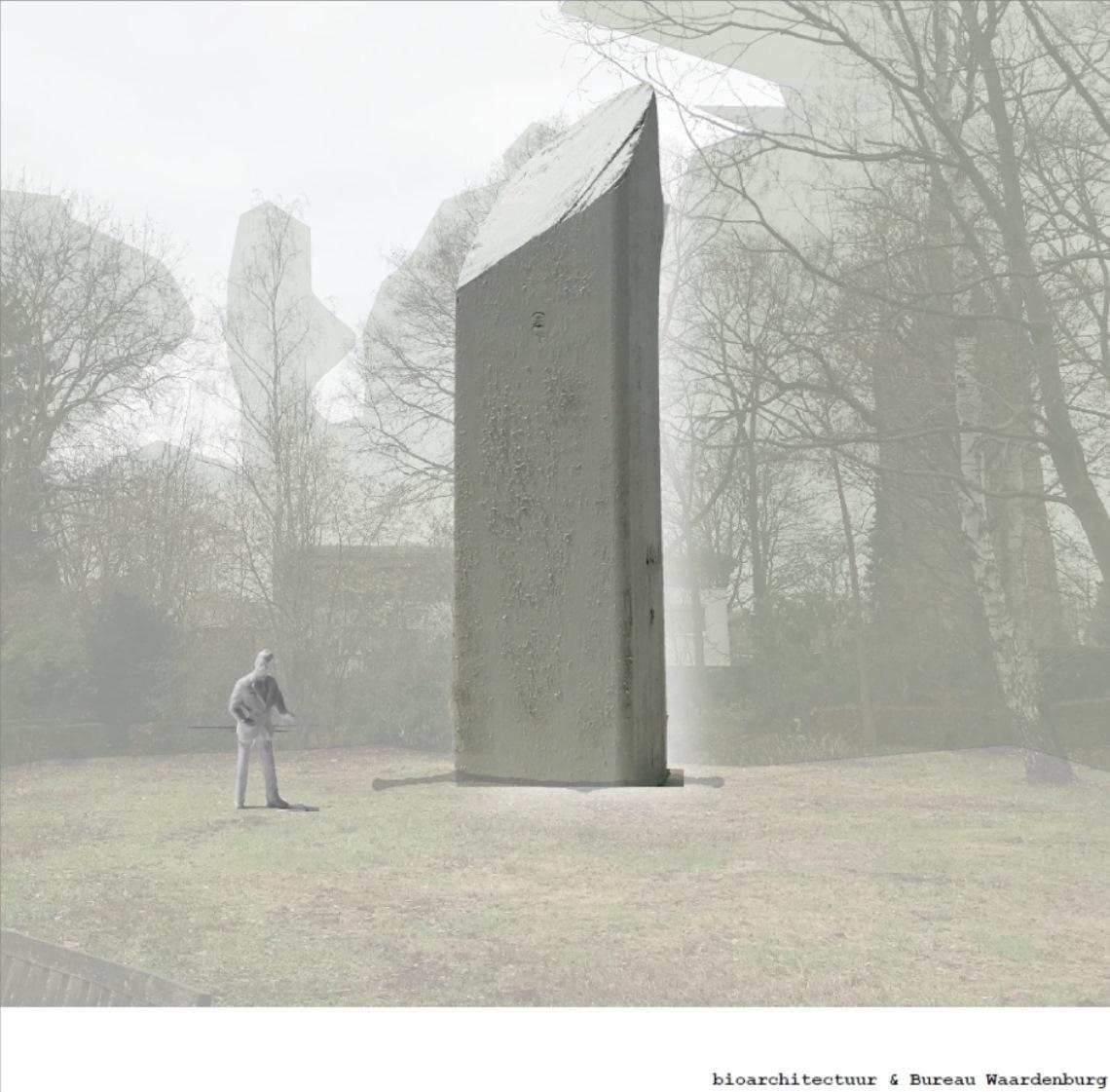 De vleermuistoren die in het Vroonhovenpark gebouwd gaat worden