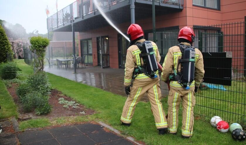 Brandweer Son en Breugel in actie bij de oefening op Zonhove   | Fotonummer: 55d02c