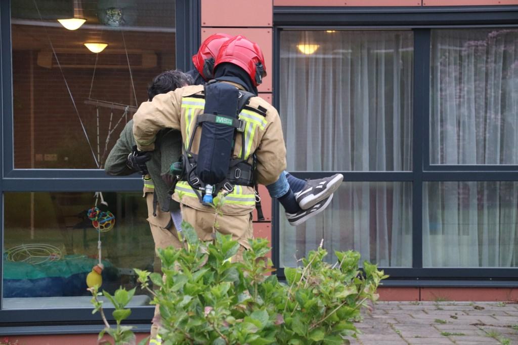 Brandweer Son en Breugel in actie bij de oefening op Zonhove Foto: Annie Maessen © DeMooiSonenBreugelKrant
