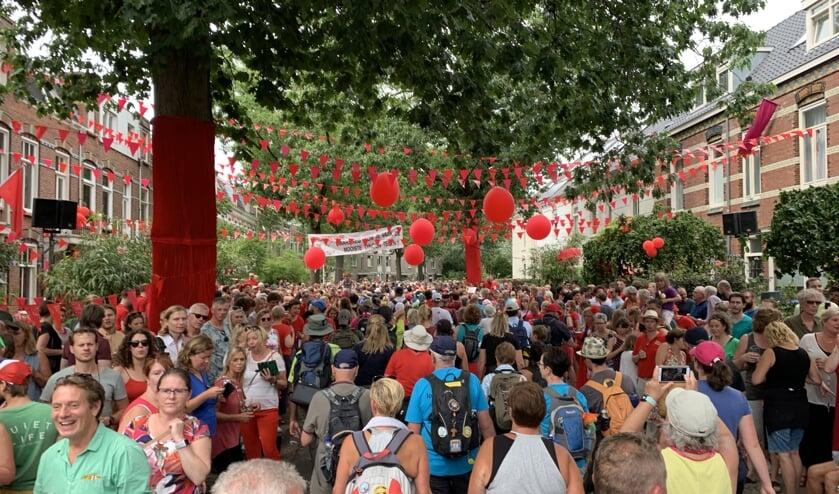 Groot feest in de dorpen en steden waar de wandelaars doorheen lopen   | Fotonummer: b532b1