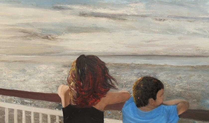 Schilderij 'De toekomst is nu' van Marianne Schellekens     Fotonummer: d95c58