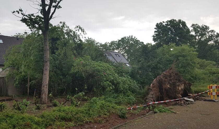 Schade bij een eerdere storm in Son en Breugel in juni 2019   | Fotonummer: a59cab