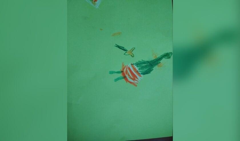 Een thuisopdracht die door een van de kinderen van basisschool De Harlekijn is gemaakt    | Fotonummer: 8bee90