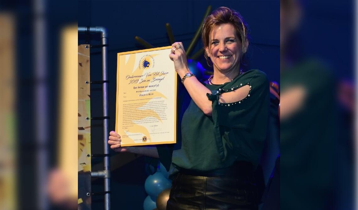 Michèle van Rooij werd uitgeroepen tot Ondernemer van het Jaar Son en Breugel in 2019 (archieffoto)