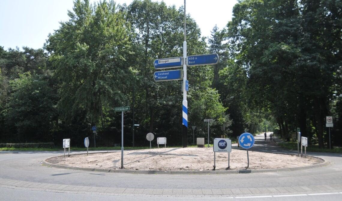 De rotonde waar het vierde kunstwerk wordt geplaatst