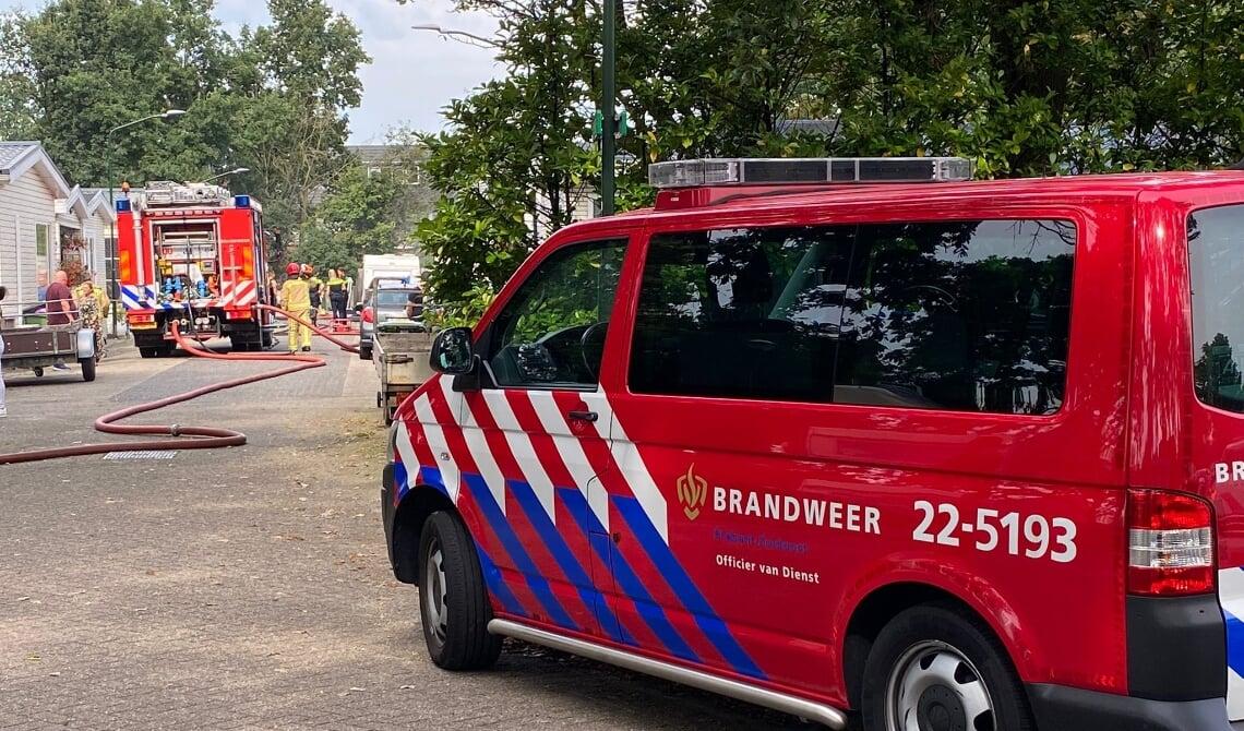Brand op woonwagenkamp Eemshof
