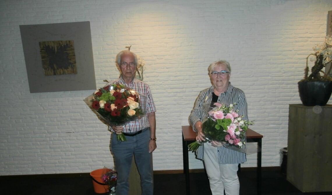 Hein en Marijke werden in het zonnetje gezet ter gelegenheid van hun veertigjarig lidmaatschap
