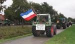 Boerenprotest via Voorschoten